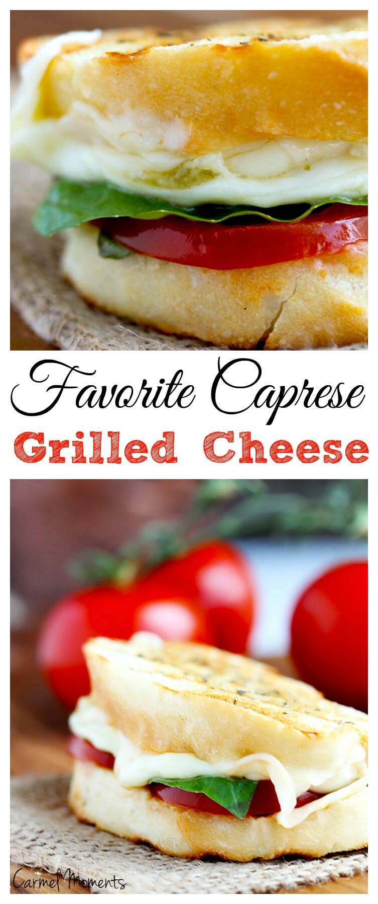 Favorite Caprese Grilled Cheese Sandwich - This rockin' combo of ...