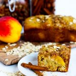 Peach Streusel Quick Bread