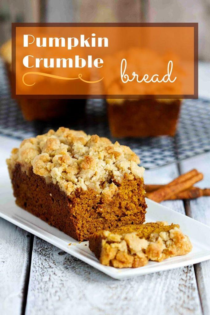 Pumpkin Crumble Bread // @gatherforbread