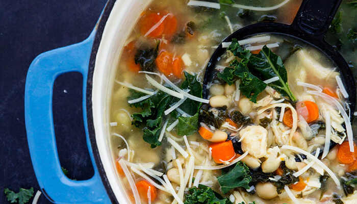 Chicken Kale and White Bean Soup