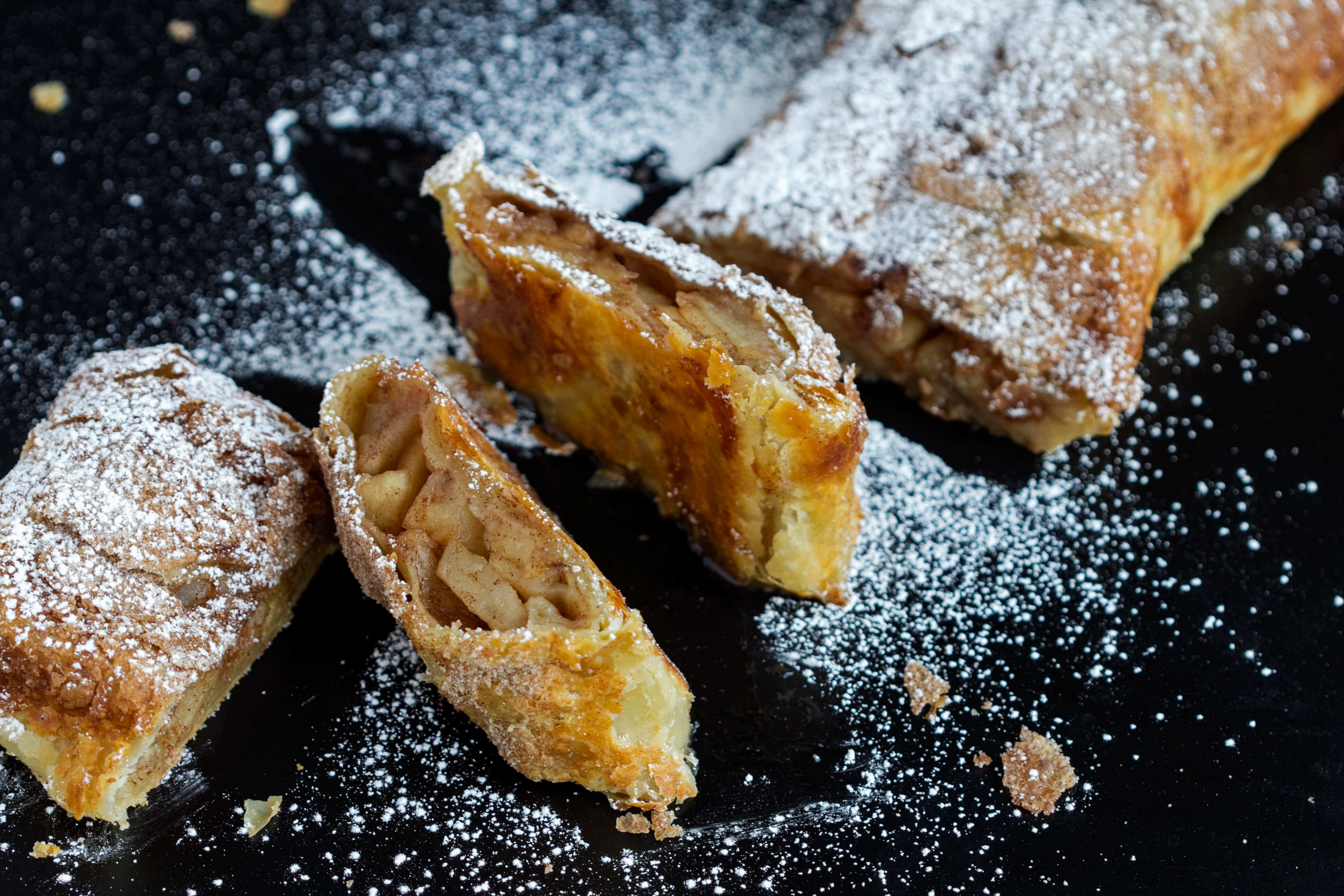 Easy Apple Strudel Puff Pastry