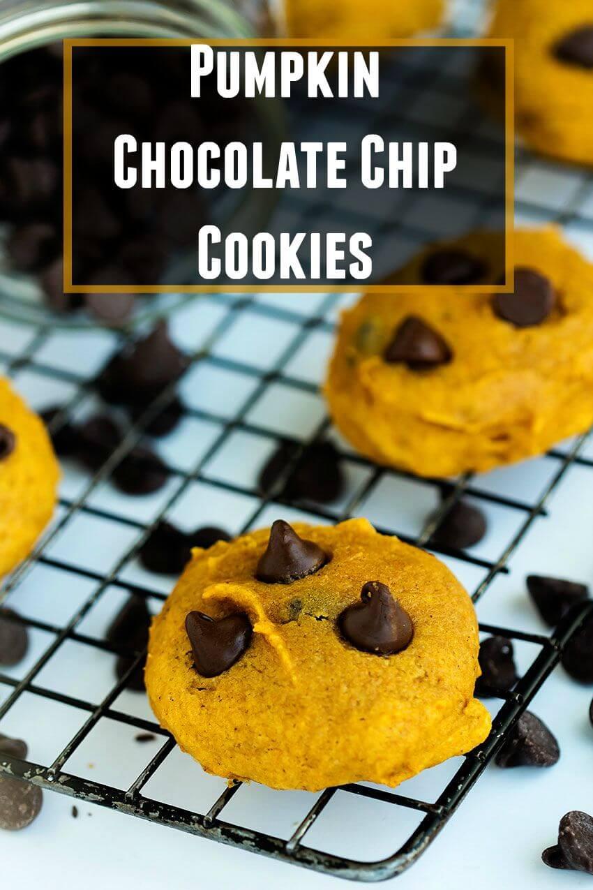 Easy Pumpkin Chocolate Chip Cookies – Soft, simple pumpkin cookies ...