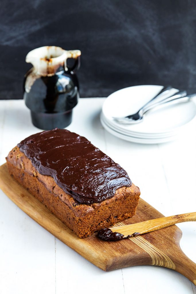 Banana Bread with Chocolate Glaze // Gather for Bread