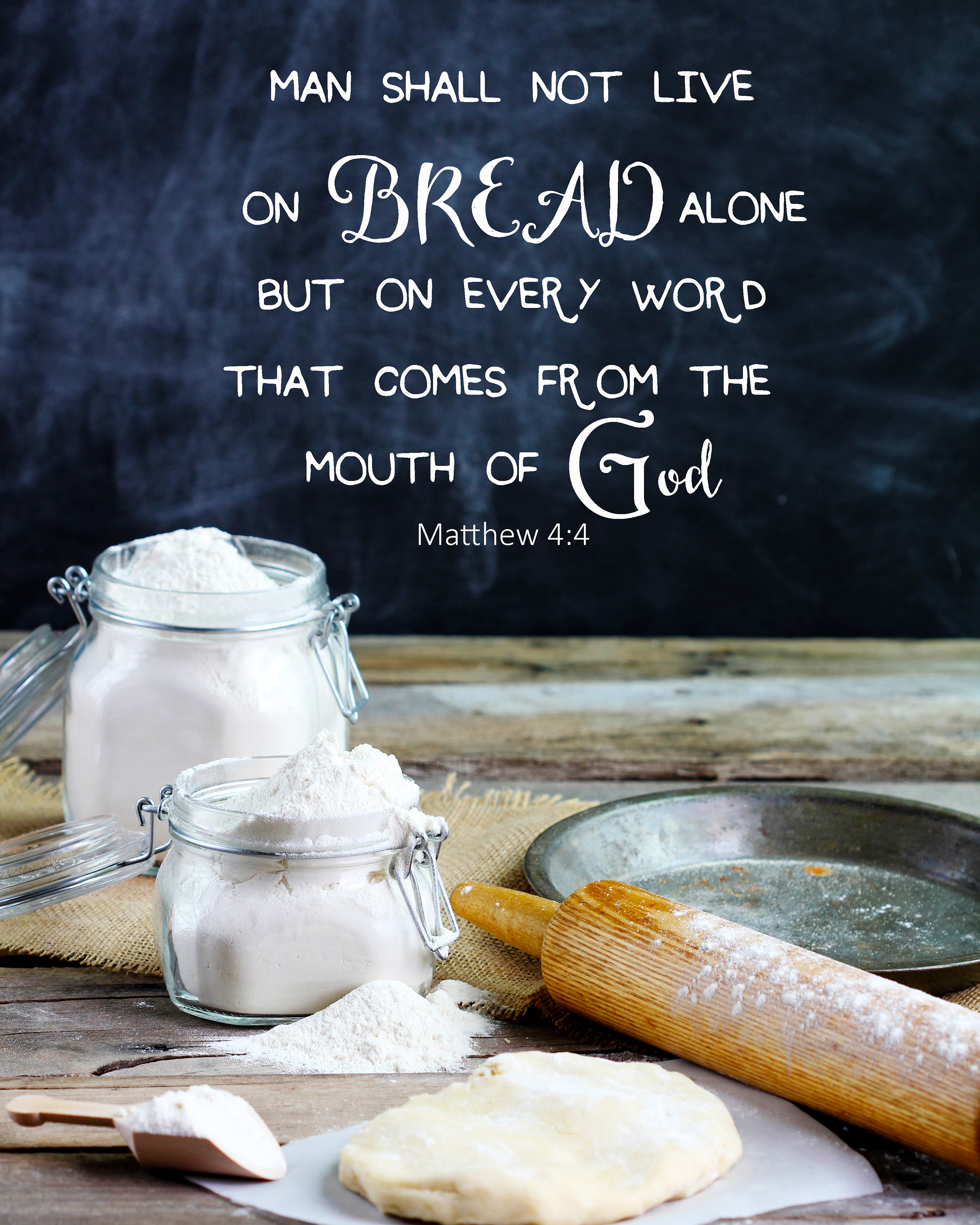 a man does not live by bread alone The bible said that 'man shall not live by bread alone, but by every word that proceeds out of the mouth of god' this is the work that god will accomplish this day he will realize this truth in you.