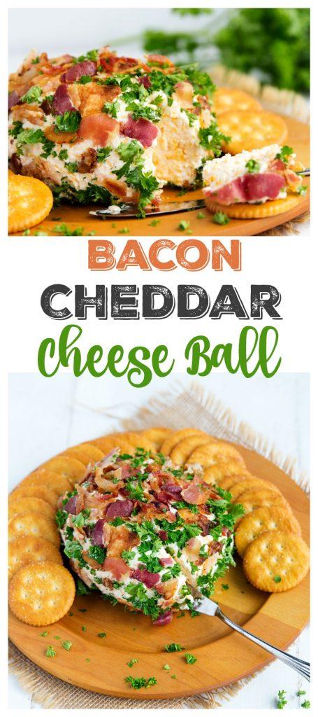 Bacon Cheddar Cheese Ball | gatherforbread.com