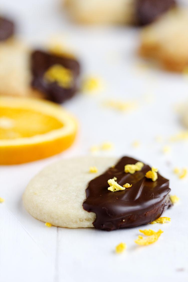 Chocolate Dipped Orange Sugar Cookies