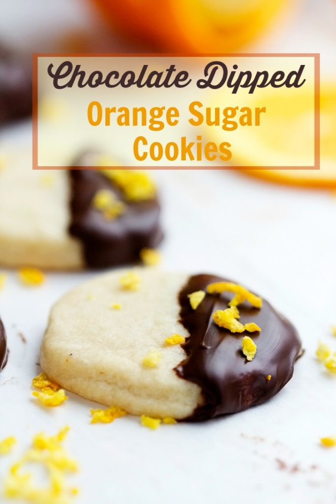 Orange Cookies Dipped In Chocolate Recipe — Dishmaps