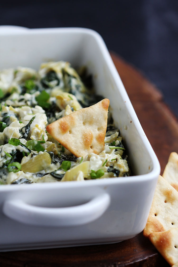 This creamy Parmesan spinach artichoke dip is perfect paired up with ...