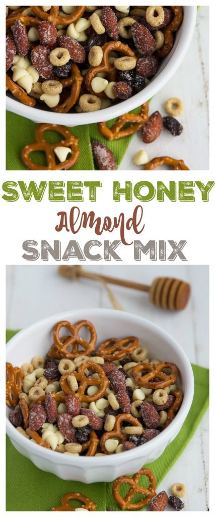 Sweet Honey Almond Snack Mix | gatherforbread.com