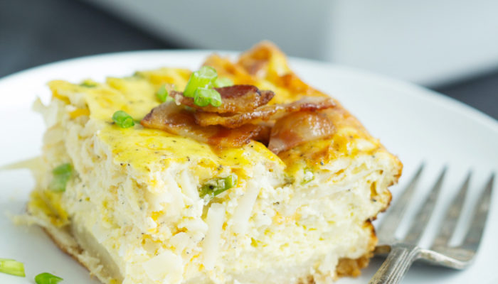 Bacon Egg Hashbrown Biscuit Bake