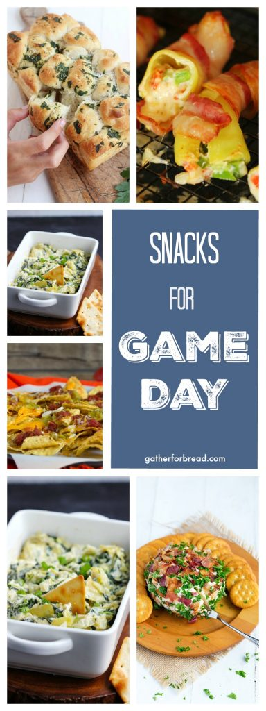 Snacks for Game Day | gatherforbread.com