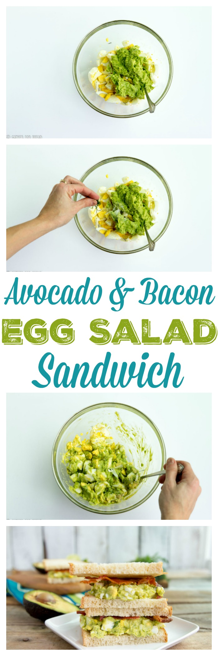 Avocado Bacon Egg Salad Sandwich - Perfect for lunch. Great way to use ...