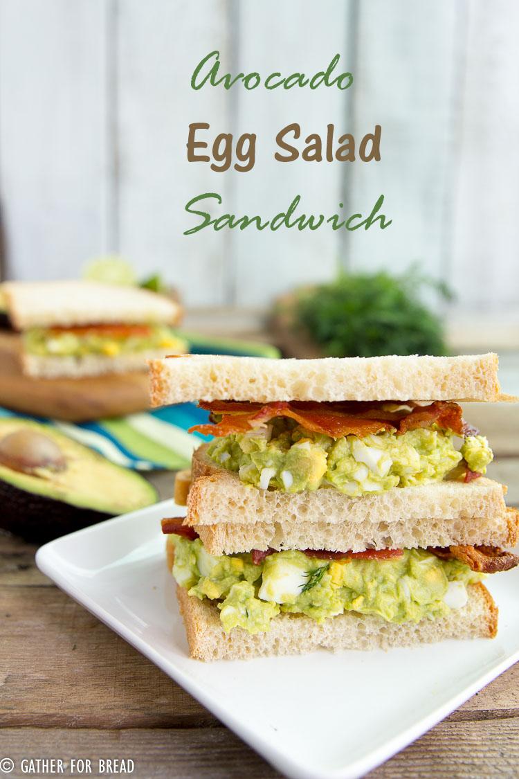 Creamy Guacamole Egg Salad Sandwich Recipe — Dishmaps