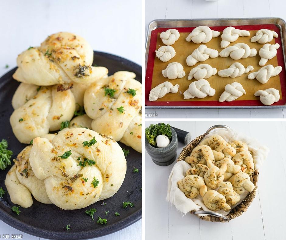 Homemade Garlic Parmesan KNots | gatherforbread.com