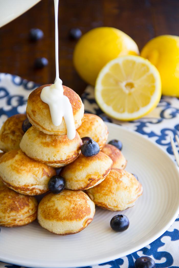 Lemon Blueberry Pancake Bites - Gather for Bread