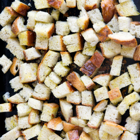 Homemade Garlic Parmesan Croutons