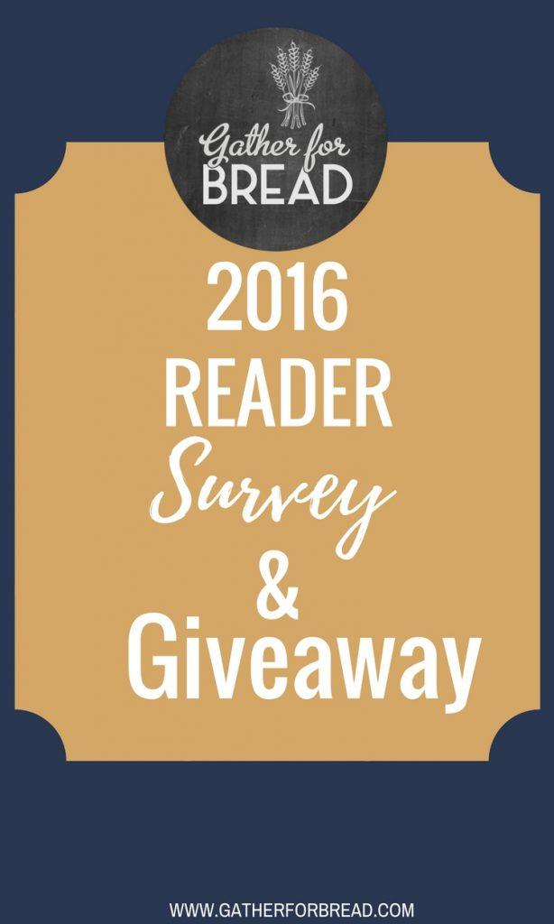 2016 Reader Survey & Giveaway