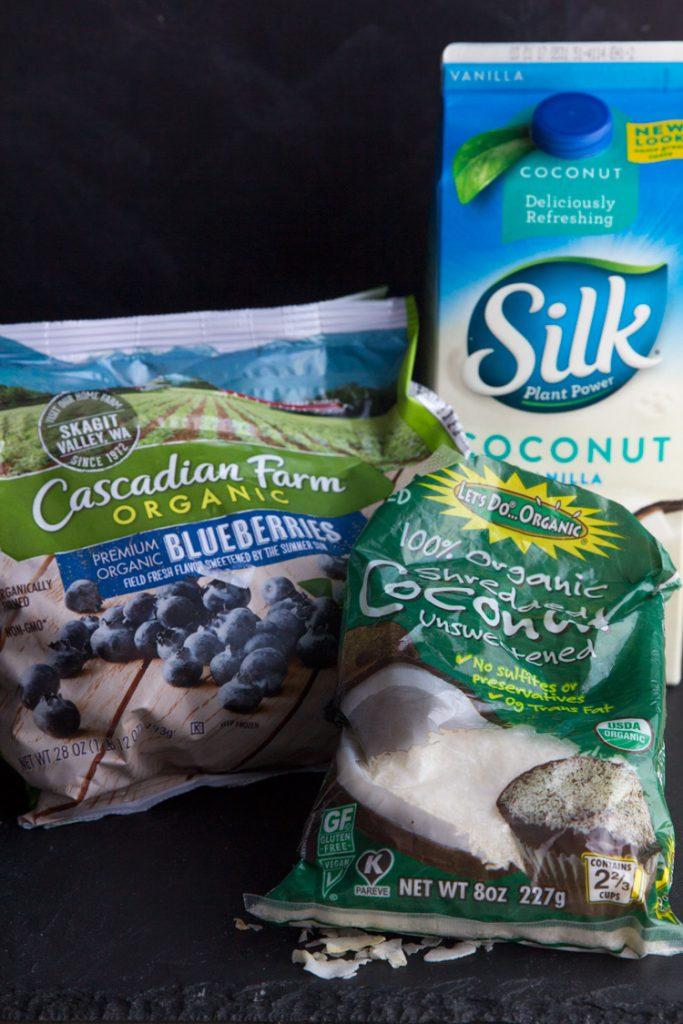 Blueberry Coconut Energy Smoothie Ingredients