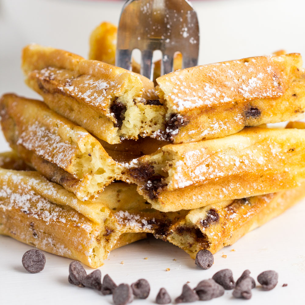 Chocolate Chip Buttermilk Waffles - Gather for Bread