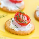 Goat Cheese Dill Cracker Bites